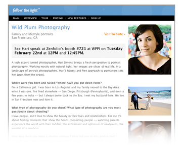 Hari Simons Profile, Wild Plum Photography